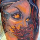 Bloody Mess Capo Gal Tattoo by Joe Capobianco