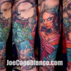Geisha Sleeve Tattoo by Joe Capobianco