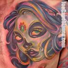 Dead Capo Gal Tattoo by Joe Capobianco