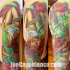 Floating Capo Gal Tattoo by Joe Capobianco