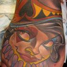 Queen of Spades Capo Gal Tattoo by Joe Capobianco