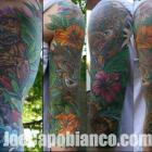 Tiki Sleeve Tattoo by Joe Capobianco