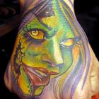 Zombie Capo Gal Hand Tattoo by Joe Capobianco