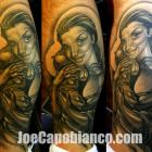 Mother Virgin Black &amp; Grey Tattoo by Joe Capobianco