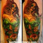 Poison Ivy Tattoo by Joe Capobianco