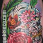 Day of the Dead Skull Tattoo by Joe Capobianco