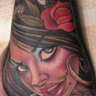 Spanish Gal Hand Tattoo by Joe Capobianco