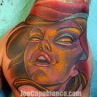 Capo Gal Hand Tattoo by Joe Capobianco